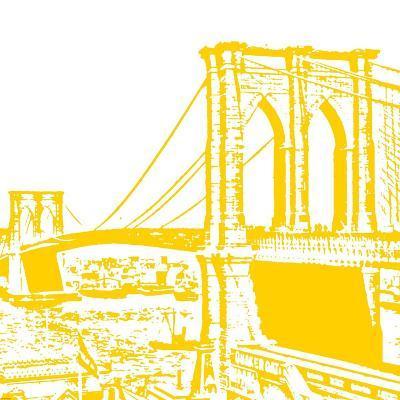 Yellow Brooklyn Bridge-Veruca Salt-Art Print