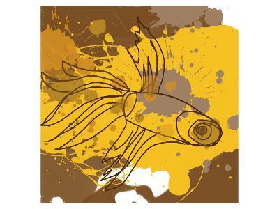 Yellow-Brown Fish-Irena Orlov-Art Print