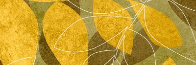 Yellow Brown Leaves1-Kristin Emery-Art Print