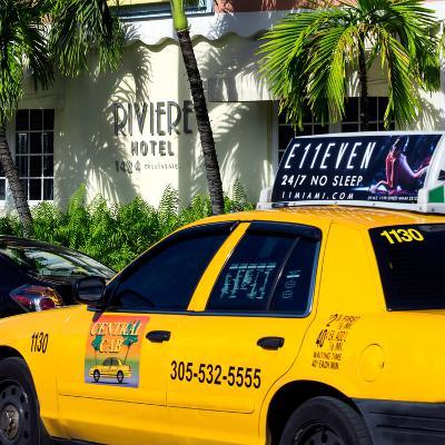 Yellow Cab of Miami Beach - Florida-Philippe Hugonnard-Photographic Print