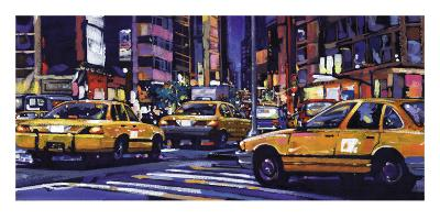 Yellow Cabs, New York City-Roy Avis-Art Print
