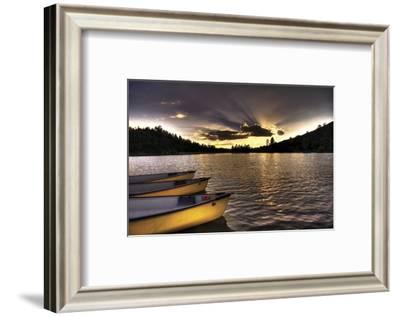 Yellow Canoes-Bob Larson-Framed Art Print