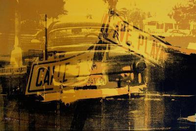 Yellow Car and Street Sign-David Studwell-Giclee Print