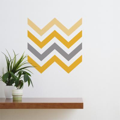 Yellow Chevron Wall Decal--Wall Decal