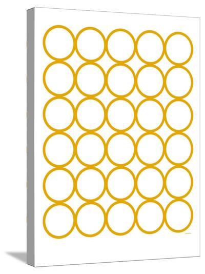 Yellow Circles-Avalisa-Stretched Canvas Print