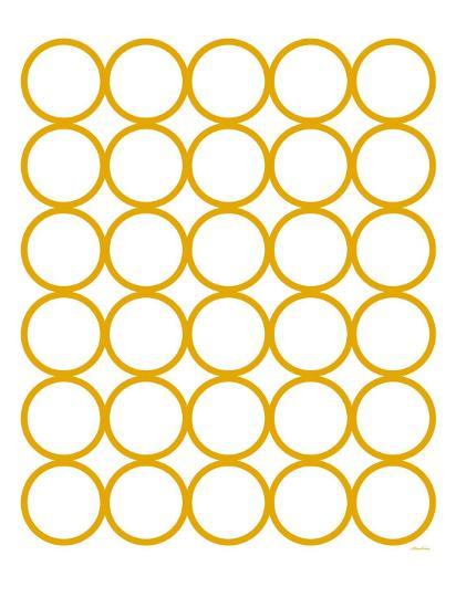 Yellow Circles-Avalisa-Art Print