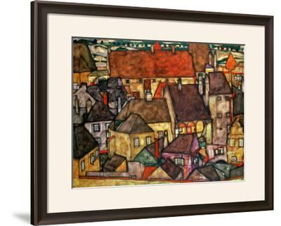 Yellow City, 1914-Egon Schiele-Framed Giclee Print