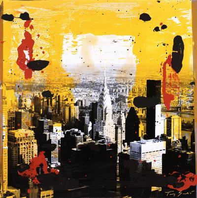 Yellow City-Tony Soulie-Art Print