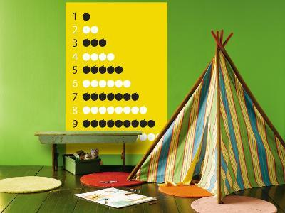 Yellow Counting Apples-Avalisa-Wall Mural