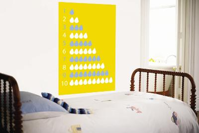 Yellow Counting Pears-Avalisa-Wall Mural