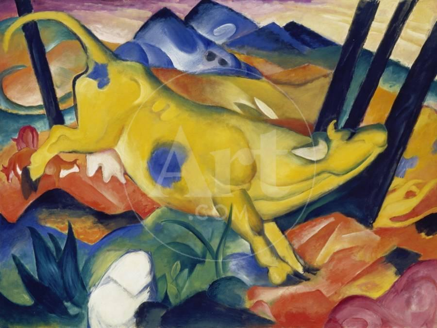 Yellow Cow, 1911 Giclee Print by Franz Marc | the NEW Art.com