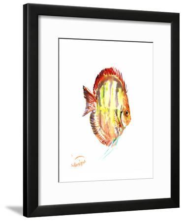 Yellow Discus-Suren Nersisyan-Framed Art Print