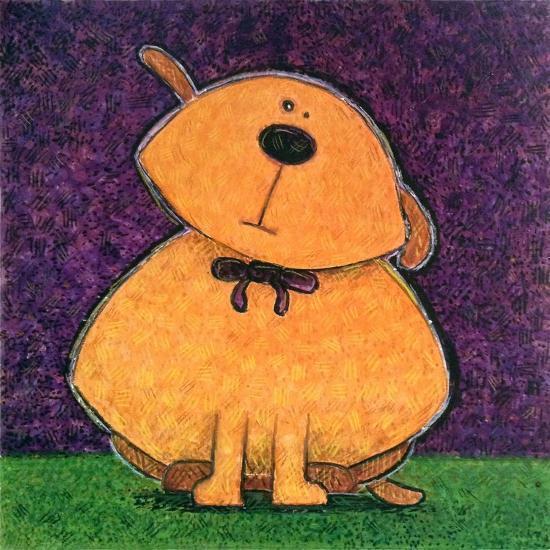 Yellow Dog-Kourosh-Art Print