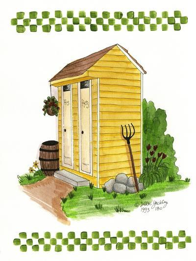 Yellow Double Outhouse-Debbie McMaster-Giclee Print