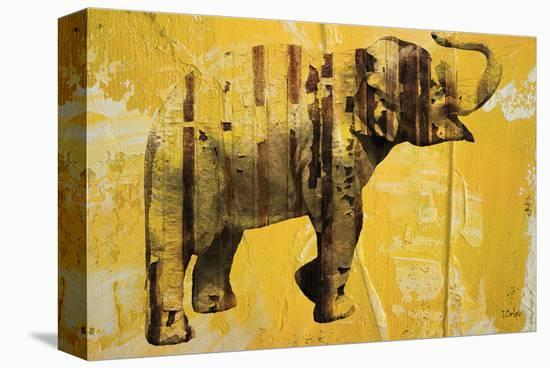 Yellow Elephant--Stretched Canvas Print