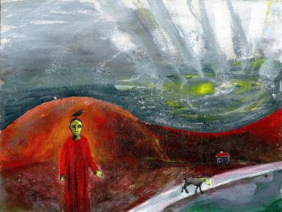 Yellow-Faced Dog Take Me Home, 2005-Gigi Sudbury-Giclee Print