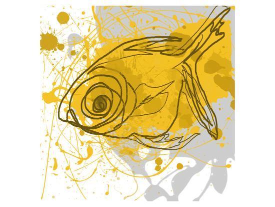Yellow Fish-Irena Orlov-Art Print