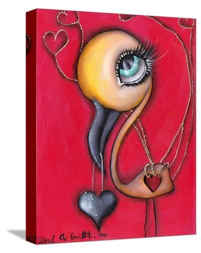 Yellow Flamingo-Abril Andrade-Stretched Canvas Print