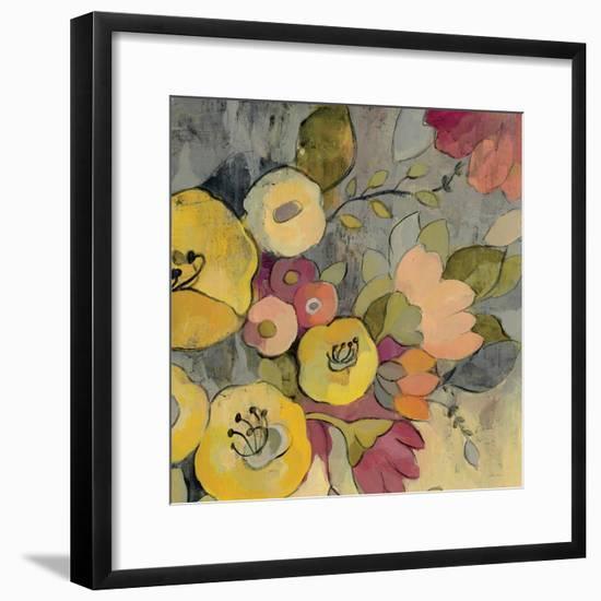 Yellow Floral Duo I Crop-Silvia Vassileva-Framed Art Print