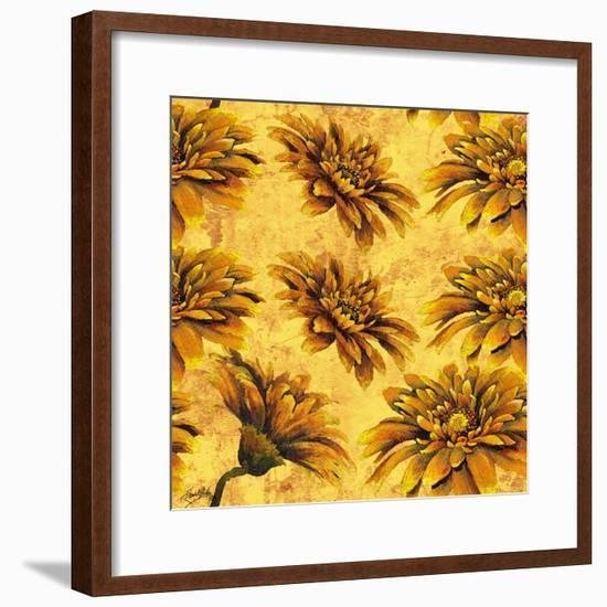Yellow Floral Pattern I-Elizabeth Medley-Framed Art Print