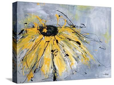 Yellow Flower-Annie Rodrigue-Stretched Canvas Print