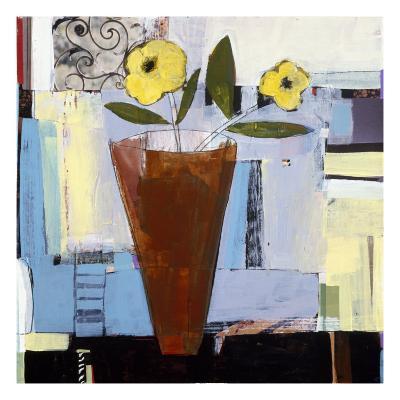 Yellow Flowers I-Charlotte Foust-Premium Giclee Print