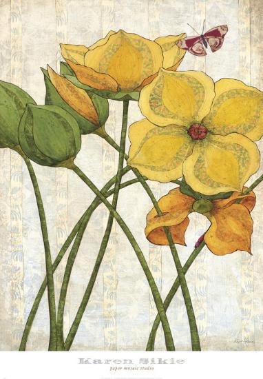 Yellow Flowers-Karen Sikie-Art Print