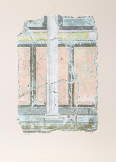 Yellow Fragment With Column I-Peter Saari-Collectable Print
