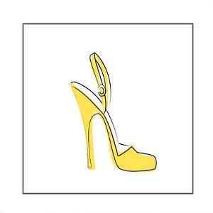 Yellow High Heeled Shoe