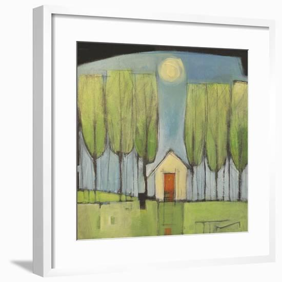 Yellow House in Woods-Tim Nyberg-Framed Giclee Print