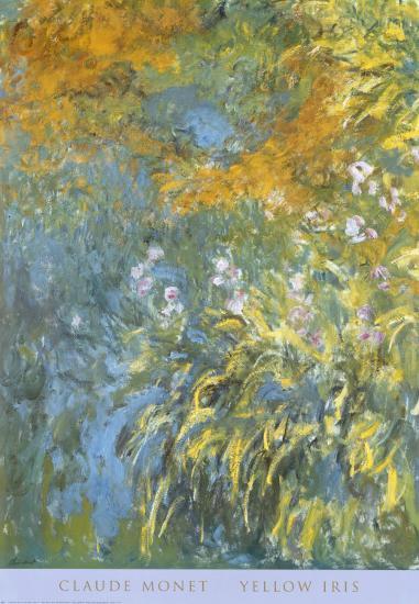 Yellow Iris-Claude Monet-Art Print