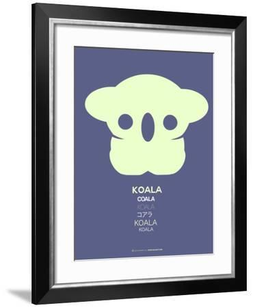 Yellow Koala  Multilingual Poster-NaxArt-Framed Art Print