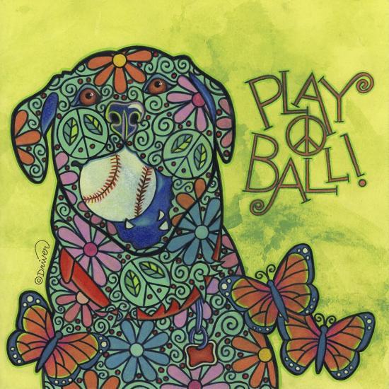 Yellow Labrador #2-Denny Driver-Giclee Print