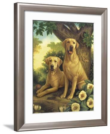 Yellow Labs-Dan Craig-Framed Giclee Print