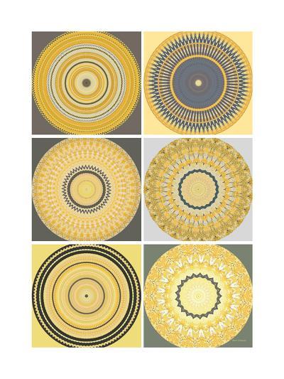 Yellow Love Collage-Herb Dickinson-Art Print