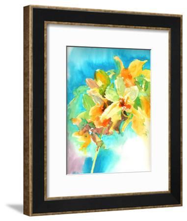 Yellow Orchid-Suren Nersisyan-Framed Art Print