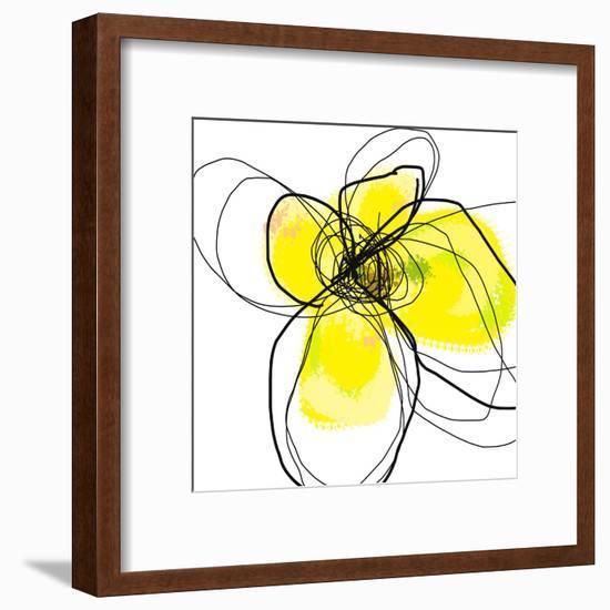 Yellow Petals 3-Jan Weiss-Framed Art Print