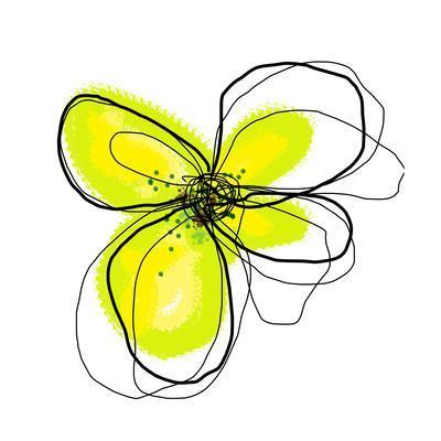 Yellow Petals 4-Jan Weiss-Art Print