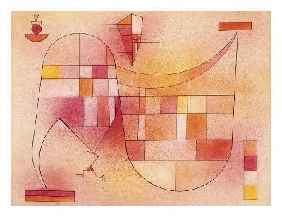 Yellow Pink-Wassily Kandinsky-Art Print
