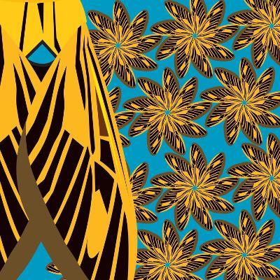 Yellow Pinwheels Made of Moths-Belen Mena-Giclee Print