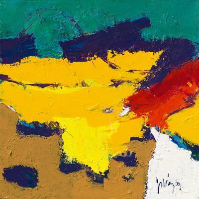 Yellow Plains-Jos van den Berg-Art Print