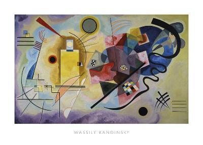 Yellow, Red, and Blue, 1925-Wassily Kandinsky-Art Print