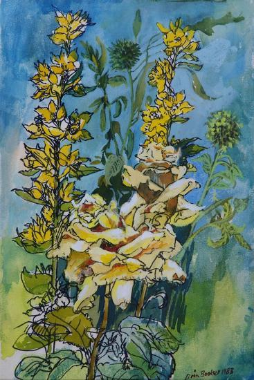 Yellow Rose and Loosestrife, 1983-Brenda Brin Booker-Giclee Print