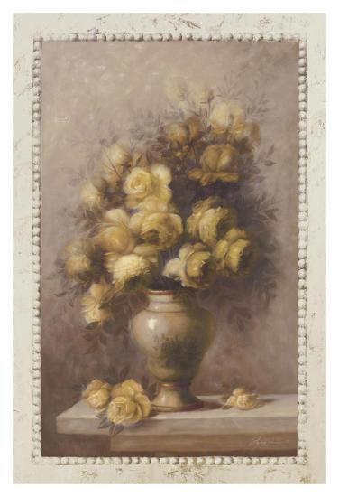 Yellow Rose Bouquet-Cheovan-Art Print