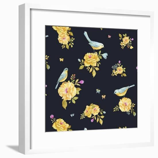 Yellow Rose Pattern-Yachal Design-Framed Giclee Print
