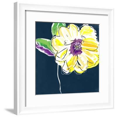 Yellow Rose-Linda Woods-Framed Art Print