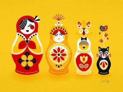 Yellow Russian Dolls-Cat Coquillette-Giclee Print