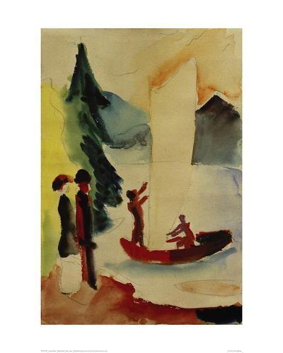 Yellow Sail-Auguste Macke-Giclee Print