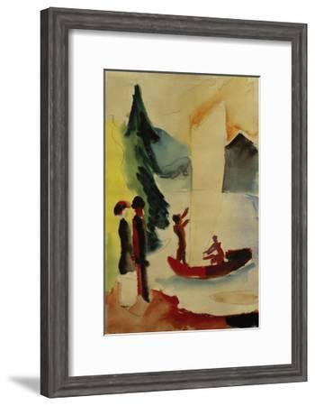 Yellow Sail-Auguste Macke-Framed Giclee Print