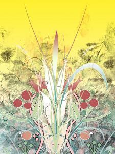 Yellow Sky over Growing Plants